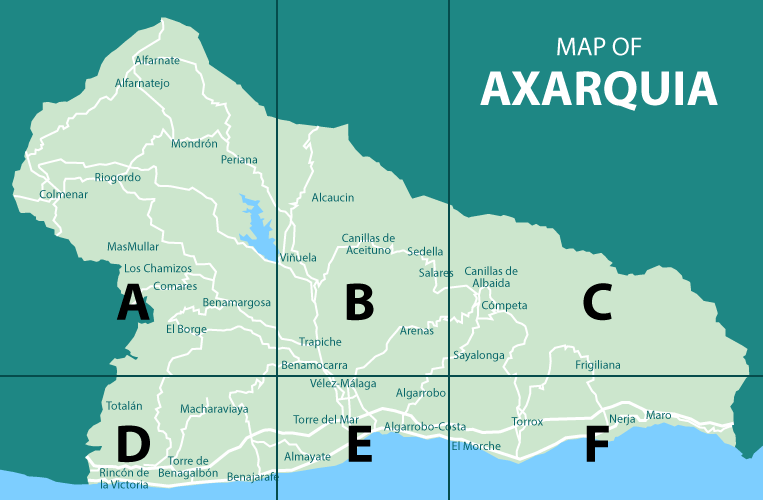 Map of Axarquia